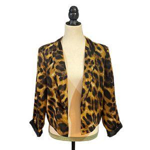 XOXO Leopard Open-Front Blazer